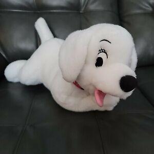 "BIG Disney Oddball 101 102 Dalmatians Plush Dog White 14"" Toy Stuffed Animal"