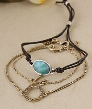 LUCKY BRAND Gold-Tone Lucky Wishbone Bracelet Set NEW