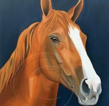 California Chrome Signed Print of Portrait Art Collectible Equestrian SFASTUDIO