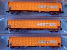 """Minitrix 15694 : 3 TEILIGES SCHIEBEPLANENWAGEN SET """"FRET SNCF"""" Bauart Rils"""