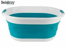 Beldray LA034816T Oval Collapsible Laundry Basket, Turquoise