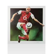 Thierry Henry Signed Arsenal Artwork Print - Controlling The Ball, Limited Editi