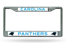 CAROLINA PANTHERS NFL Officially Licensed Chrome Auto License Plate Frame