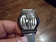 BIJOUX TERNER Women's Silver Tone Quartz Watch with silver Band NEW BATTERY