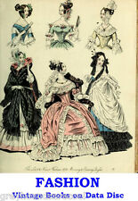 Fashion 1800s to 1920's Collection Vintage Books on Data Disc Colour Plates