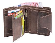 portafoglio marrone Borsa Combinata con linguetta esterno PORTAFOGLIO LEAS in vera pelle-