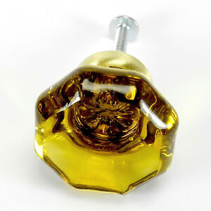 Closet Handles or Knob Set K79-SET//4 Cabinet Knob Set Glass Pulls for Drawers