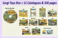 Corgi Catalogue 1958 1959 1960 1961 1962 1963 1964 1965 1966 1967 1968 1969 1970