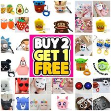 AirPods Cute 3D Cartoon Silicone Case cover For Airpod 1 & 2 Charging Case Best