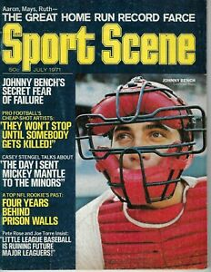 1971 Sport Scene Baseball magazine Johnny Bench Cincinnati Reds Mickey Mantle VG