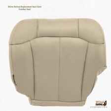 2001 2002 GMC Sierra 1500HD 2500HD SLT Leather Seat Cover TAN - Driver Bottom