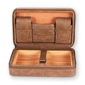 Galiner Cigar Humidor Case Portable Cedar Wood Leather Travel Humidor Humidifier