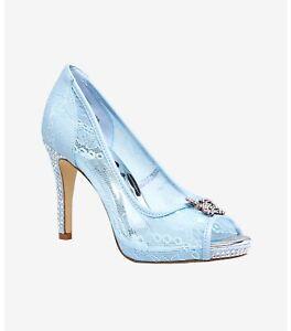 Rare! Disney Cinderella Blue Princess Shoes w/ Rhinestones NWT - Size 9W