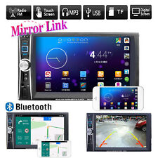 Car Stereo Audio MP5 Bluetooth Touch Double 2DIN MP3 Player FM Radio USB AUX GPS