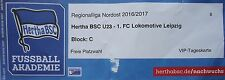 VIP TICKET 2016/17 Hertha BSC Berlin U23 - Lok Leipzig