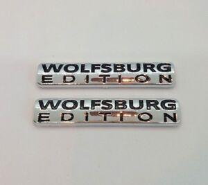 ⭐🇫🇷 NEUF x2 MONOGRAMMES WOLFSBURG EDITION VW GOLF VOLKSWAGEN LOGO BADGE NEW