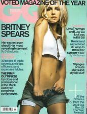 Britney Spears GQ Revista British GB Noviembre 2003 World Exclusivo más Sexy