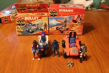Mask Kenner Bullet and Dynamo w/boxes, complete/Nc w/Bombay, Sato, missile