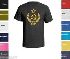 CCCP T-Shirt Soviet Union Russian Secret Service shirt Tee SZ S-5XL