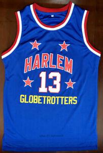 Wilt Chamberlain #13 Harlem Globetrotters Team Men's Basketball Jersey Stitched