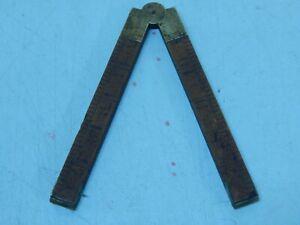 Vintage Antique Wooden Folding Ruler