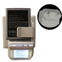 Premium Universal Mobile Phone Battery Charger with LCD EU PLUG