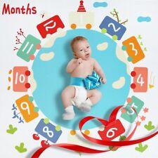 "Baby Milestone Blanket-47""x47""Growth Blanket Newborn Photo Prop For Girl and Boy"