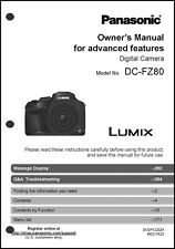 Panasonic Lumix DC-FZ80 Advanced Camera User Guide Instruction Manual
