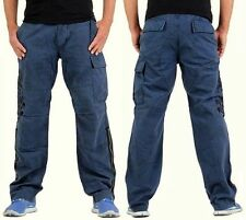 GUESS UOMO CARGO PANTS JEANS PANTALONI TROUSERS DENIM W 33 Designer Safari Runway