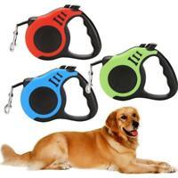 5M Dog Retractable Leash Automatic Cat Lead Extending T0T4 D2F2 Puppy L L3G0