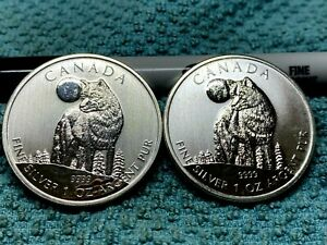 Lot of (2) 2011 Canada Silver Dollars
