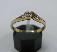 Goldring in aus 585 14K. Brillantring Solitär Diamant Diamond 0,05 ct. Gr. 54