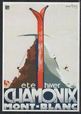 CPP219 CARTE POSTALE publicité ETE HIVER CHAMONIX MONT BLANC PLM par HENRI REB