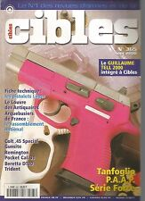 CIBLES N°365 PISTOLET LUGER / COLT 45 SPECIAL/ GUNSITE /REMINGTON POCKET CAL 31