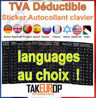 Sticker Autocollant AZERTY QWERTY Touche Clavier Ordinateur Portable PC russe