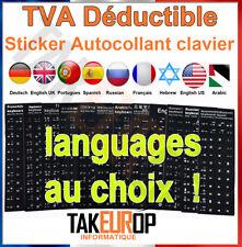 Sticker Autocollant AZERTY QWERTY pour Touches de Clavier d'Ordinateur Portable