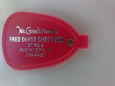 ADVERTISING KEY RING KEYCHAIN FOB  MR. GOODWRENCH FRED DEVOE CHEV-GEO