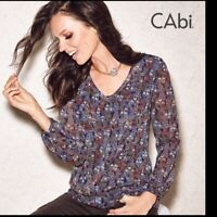 CAbi Tapestry Print Blouse Style 157 Size S Limited Edition
