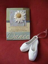 Dance in the Rain 3D Resin Plaque by Stephanie Jarrott & Ballet Shoe Ornament