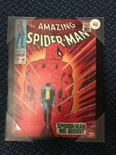 """Artissimo Comic Cover The Amazing Spiderman Printed Canvas Art 14"""" x 11"""" New"""