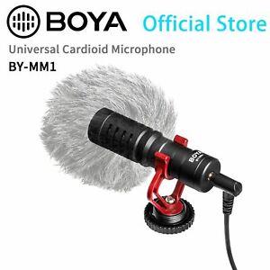 Cardioid Microphone Condenser Shotgun Cameras DLSR Mic Vlogs Videos Recording PC