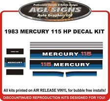 1983  MERCURY 115 hp Reproduction Outboard Decal Set