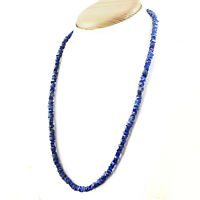 Details about  /Faceted 570.00 Cts Earth Mined Blue Sapphire Oval Shape Beads Necklace JK 28E244