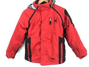 Spyder Boys Ski Snow Coat Winter Hooded Jacket Puffer Waterproof Insulated 10