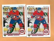 (2) CANADIENS MIKE KEANE  1990-91 ROOKIE NRMT CARD (H0133)