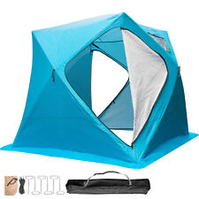 Ice Shelter Fishing Tent 4-person Accessories Room Thick Cotton Warmer Blue