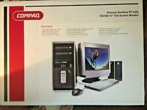 Retro Compaq Presario Desktop PC + Monitor 2.67 GHz - 256 MB - 40GB - NIB
