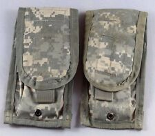 Lot of 2 Double Mag Pouches ACU - Molle II Two Magazine Pouch - US Army