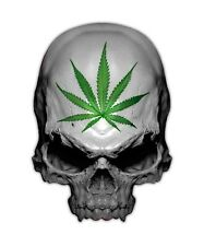 Hemp Weed Skull Decal - Cannabis Sticker Graphic