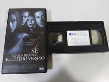 SE LO QUE HICISTEIS EL ULTIMO VERANO JIM GILLESPIE VHS TAPE CASTELLANO